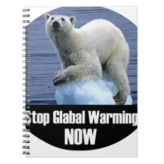 Het Globale nu Verwarmen van het einde Notitieboek
