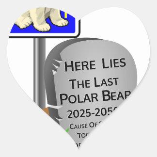 Het globale Verwarmen, de Ijsbeer 2050 van RIP Hart Sticker