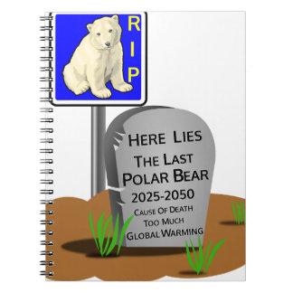 Het globale Verwarmen, de Ijsbeer 2050 van RIP Notitieboek