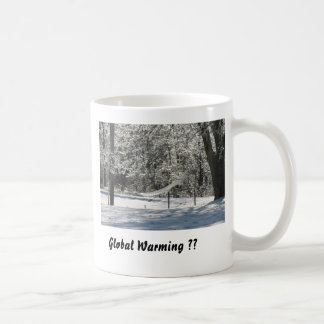 Het globale Verwarmen?? Koffiemok