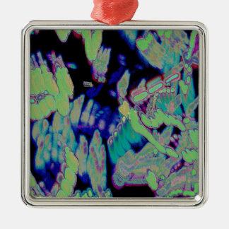 Het gloeien Effect Zilverkleurig Vierkant Ornament