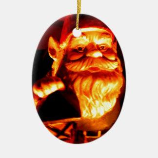 Het gloeien Gnoom Keramisch Ovaal Ornament
