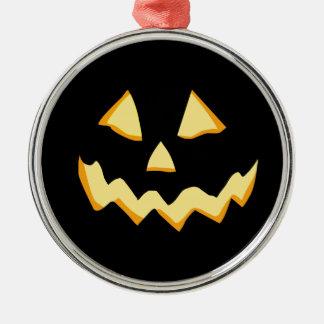 Het gloeien Jackolantern Zilverkleurig Rond Ornament