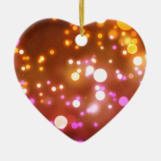 Het gloeien lichten keramisch hart ornament