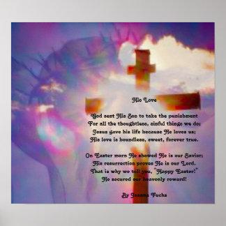 Het godsdienstige Poster van Pasen - Jesus en