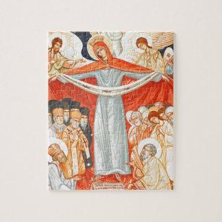 Het godsdienstige schilderen legpuzzel