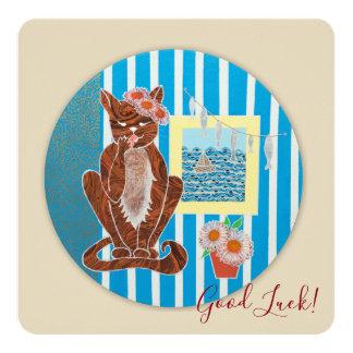 Het goede Geluk maakte Vierkante Kaart met de Kat