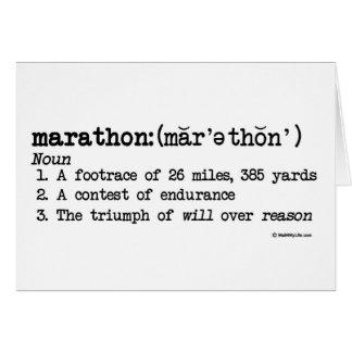 Het Goede Geluk van de Definitie van de marathon Briefkaarten 0