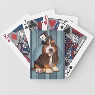 Het gokkende Puppy van Basset Hound Poker Kaarten