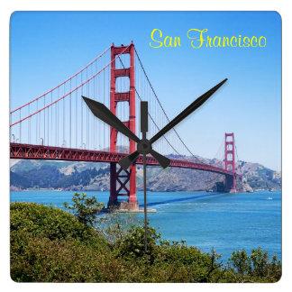 Het Golden Gate van San Francisco Vierkante Klok