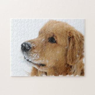 Het Golden retriever van de Hond van de sneeuw Legpuzzel