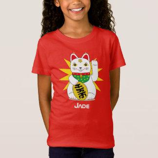 Het golven de Japanse Gelukkige Kat van Maneki T Shirt