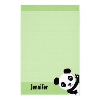 Het golven het Briefpapier van de Panda