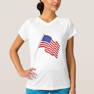 Het golvende Amerikaanse Overhemd van de Training T Shirt