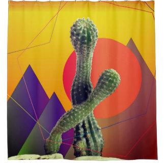 Het Gordijn van de Douche van de cactus en van de