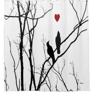Het Gordijn van de Douche van de Vogels van de Douchegordijn