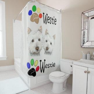 Het Gordijn van de Kunst van de Hond van Westie en Gordijn 0