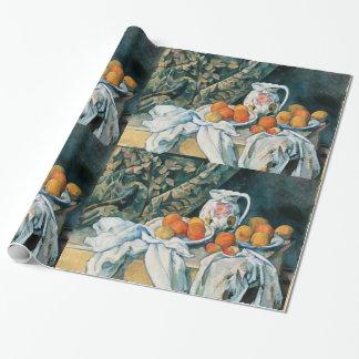 Het Gordijn van het Stilleven van Cezanne, bloeide Cadeaupapier