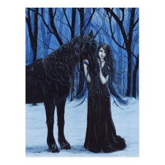 Het gotische Briefkaart van de Eenhoorn en van de