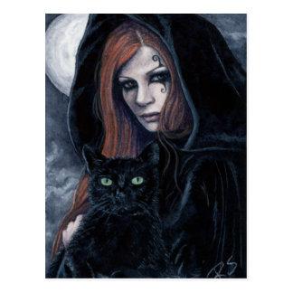 Het gotische Briefkaart van de Kat van het