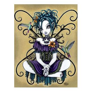 Het Gotische Briefkaart van de Kunst van de Fee va Wens Kaart