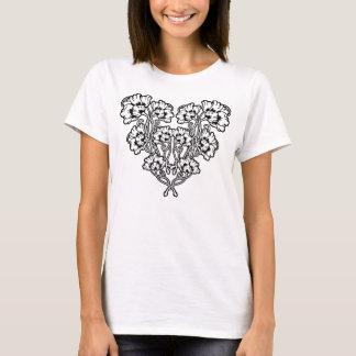 Het gotische Hart van de Bloem van de Jugendstil T Shirt