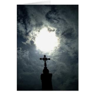 Het gotische kruis van Pasen Kaart
