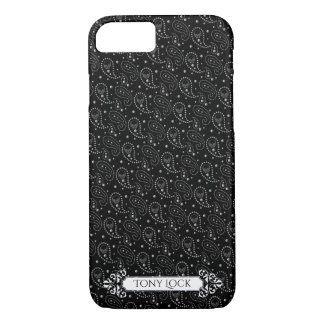 Het gotische Patroon van Paisley van de Schedel iPhone 8/7 Hoesje