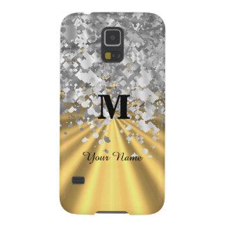 Het goud en het zilver schitteren met monogram galaxy s5 hoesje