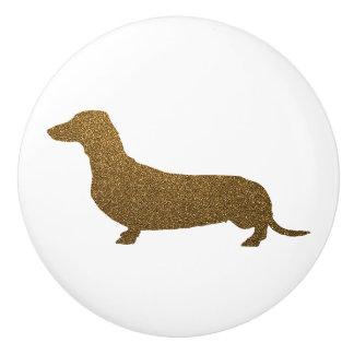 Het Goud Faux van de Hond van de tekkel van Keramische Knop
