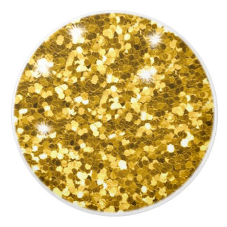 Het goud schittert Ceramische Knop