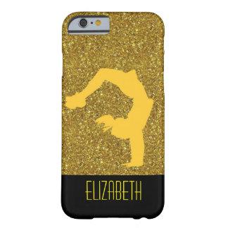 Het goud schittert het Monogram van de Gymnastiek Barely There iPhone 6 Hoesje