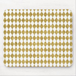 Het goud schittert het Patroon van de Diamant Muismat
