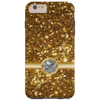 Het goud schittert Juweel Tough iPhone 6 Plus Hoesje