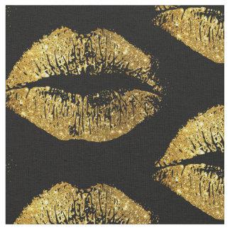 Het goud schittert Lippen Stof