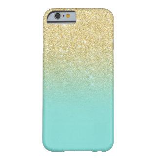 Het goud schittert ombre robbin blok van de ei het barely there iPhone 6 hoesje