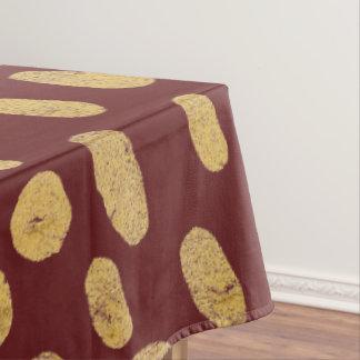 Het goud schittert Vingerafdrukken Tafelkleed