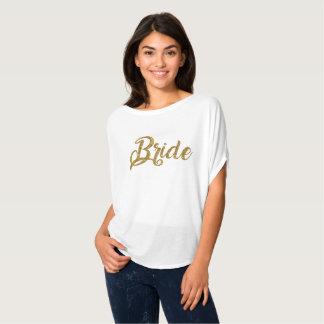 Het Goud van de bruid schittert Bovenkant Flowy T Shirt