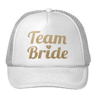Het Goud van de Bruid van het team schittert het Trucker Cap