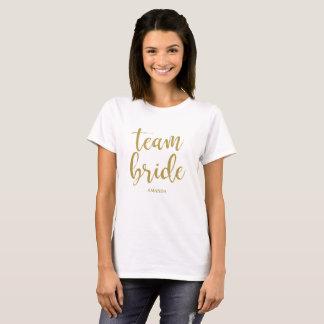 Het Goud van de Bruid van het team schittert T Shirt