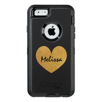 Het goud van de douane schittert drukiPhone 6 OtterBox Defender iPhone Hoesje