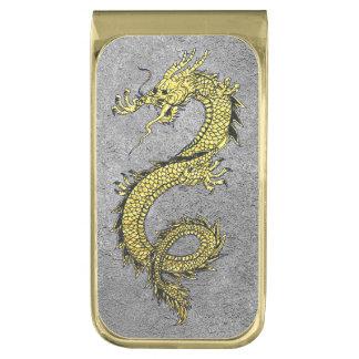 Het Goud van de draak op Zilver personaliseert Vergulde Geldclip