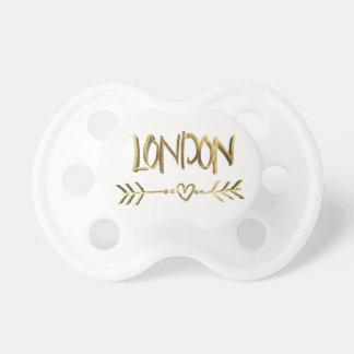 Het Goud van de Liefde van Londen het UK kijkt het Baby Speentjes