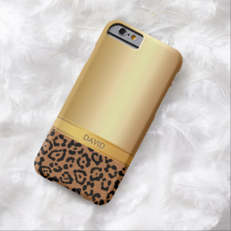 Het Goud van de luxe & iPhone 6 van de Naam van de Barely There iPhone 6 Hoesje