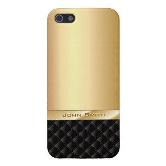Het Goud van de luxe met iPhone 5 van de Naam van  iPhone 5 Cover