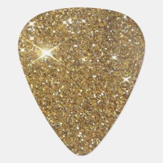Het Goud van de luxe schittert - Gedrukt Gitaar Plectrum 0