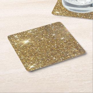 Het Goud van de luxe schittert - Gedrukt Vierkante Onderzetter
