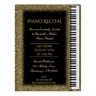 Het Goud van de Overweging van de piano schittert Briefkaart