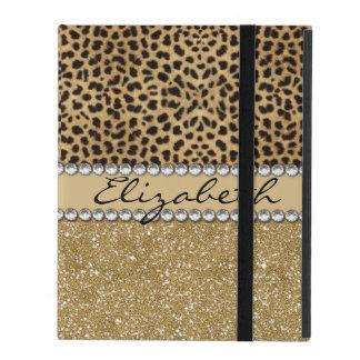Het Goud van de Vlek van de luipaard schittert de iPad Hoesjes