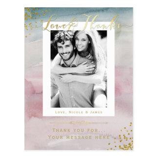 Het Goud van de Waterverf van Glam van de liefde & Briefkaart